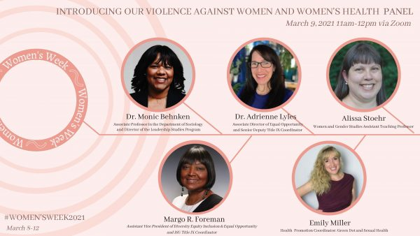 Women's Week Violence Against Women and Women's Health Panel